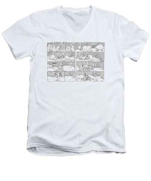 'ip Gissa Gul' Men's V-Neck T-Shirt