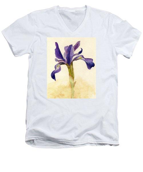 Iris Men's V-Neck T-Shirt by Barbie Corbett-Newmin