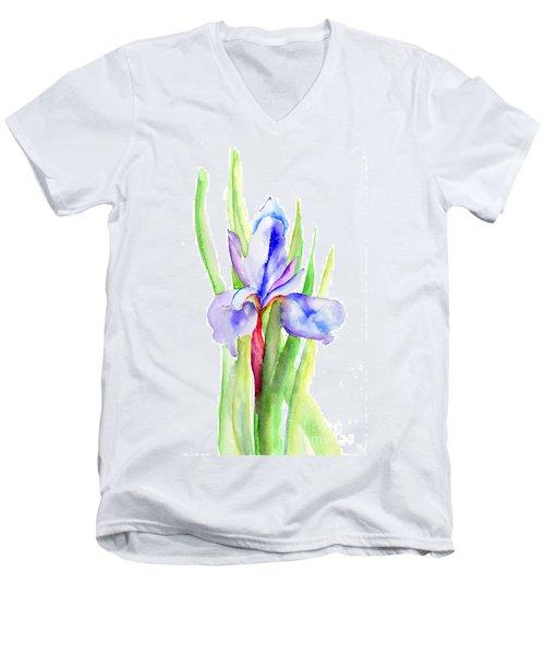 Iris Flowers Men's V-Neck T-Shirt