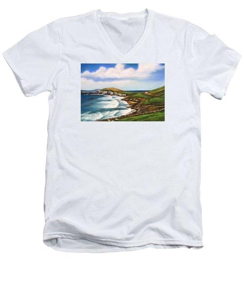 Dingle Peninsula Irish Coastline Men's V-Neck T-Shirt