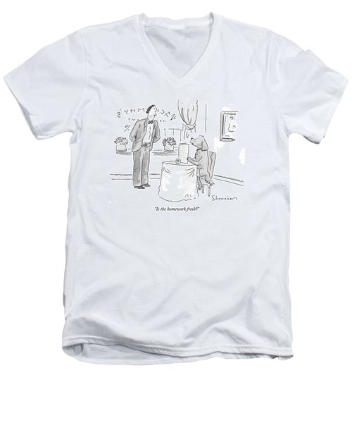 Is The Homework Fresh? Men's V-Neck T-Shirt