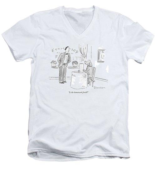 Is The Homework Fresh? Men's V-Neck T-Shirt