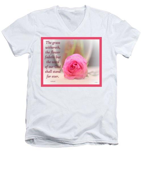Isaiah 40 Vs. 8 Men's V-Neck T-Shirt