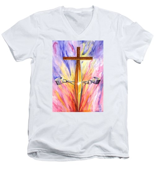 Isaiah Sixty One Verse One Men's V-Neck T-Shirt