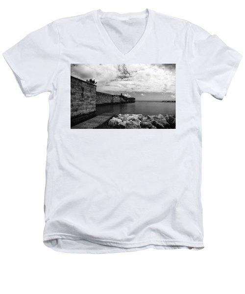 Island Fortress  Men's V-Neck T-Shirt