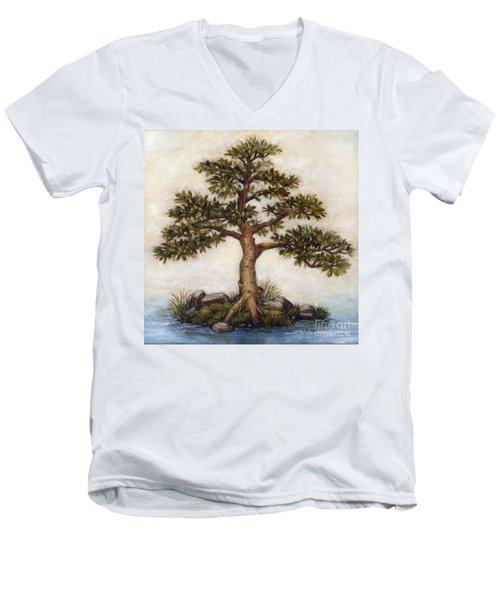 Island Tree Men's V-Neck T-Shirt