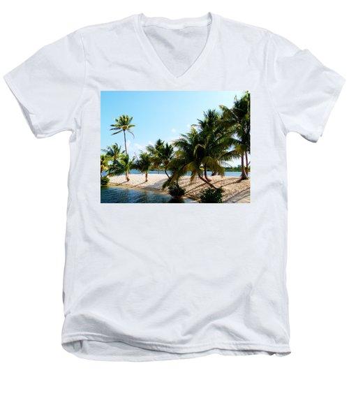 Isle @ Camana Bay Men's V-Neck T-Shirt by Amar Sheow