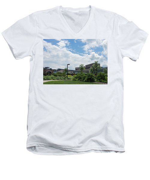 Ithaca College Campus Men's V-Neck T-Shirt