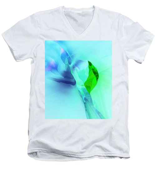 Men's V-Neck T-Shirt featuring the digital art It's A Mystery  by David Lane