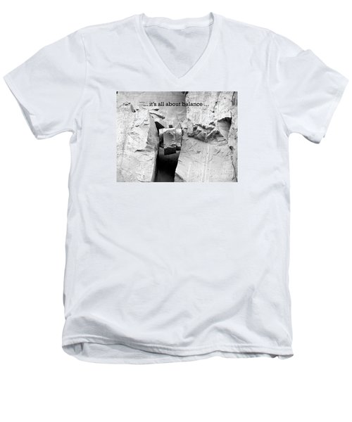 Men's V-Neck T-Shirt featuring the photograph It's All About Balance by Susan  Dimitrakopoulos