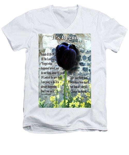 It's Begun Men's V-Neck T-Shirt