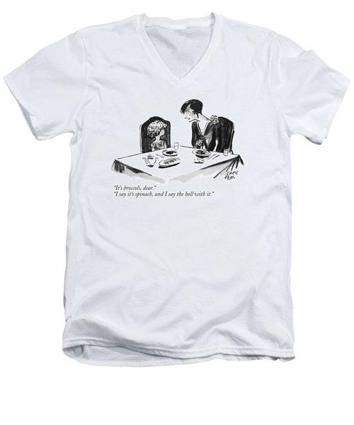 It's Broccoli Men's V-Neck T-Shirt