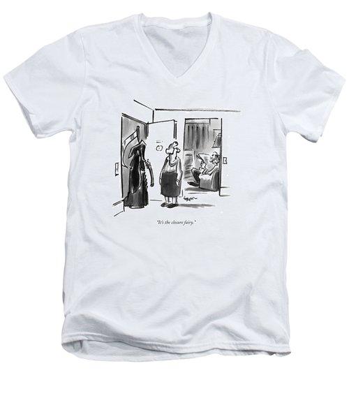 It's The Closure Fairy Men's V-Neck T-Shirt