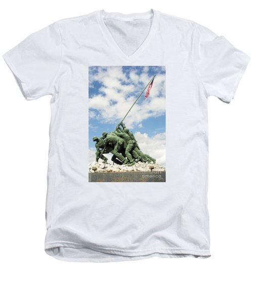Iwo Jima Monument II Men's V-Neck T-Shirt