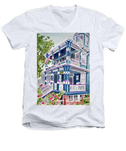 Jackson Street Inn Of Cape May Men's V-Neck T-Shirt