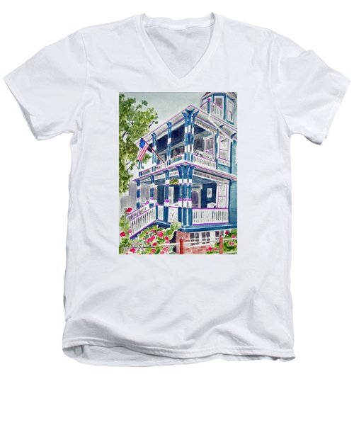 Jackson Street Inn Of Cape May Men's V-Neck T-Shirt
