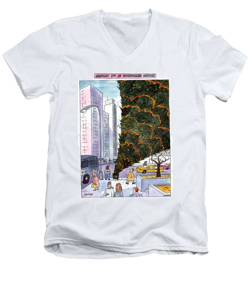 January 3rd At Rockefeller Center Men's V-Neck T-Shirt