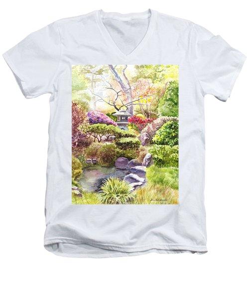 San Francisco Golden Gate Park Japanese Tea Garden  Men's V-Neck T-Shirt