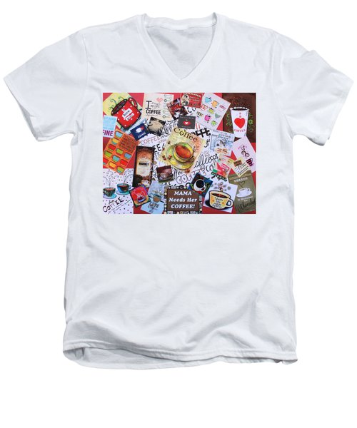 Java Lover's Collage Men's V-Neck T-Shirt
