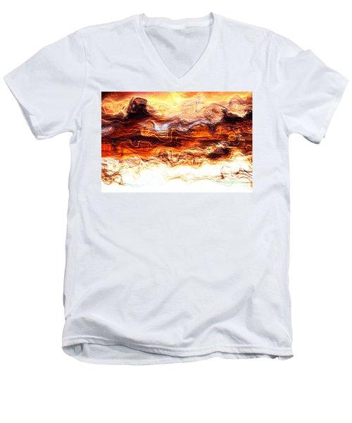 Men's V-Neck T-Shirt featuring the digital art Jazz by Richard Thomas