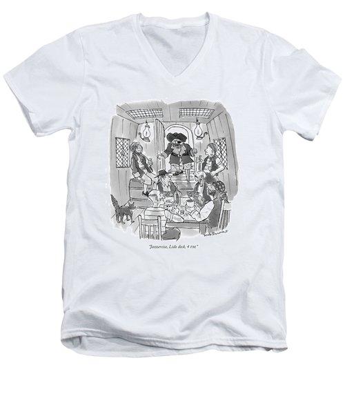 Jazzercise, Lido Deck, 4 P.m Men's V-Neck T-Shirt