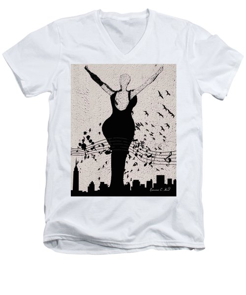 Jazzinthesky Men's V-Neck T-Shirt