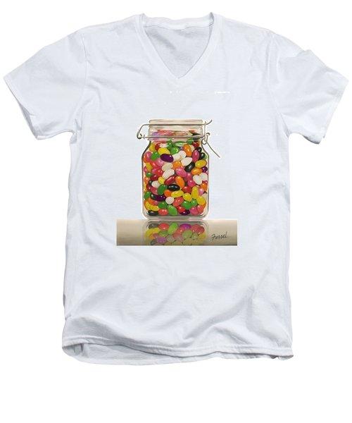 Jelly Beans Men's V-Neck T-Shirt by Ferrel Cordle