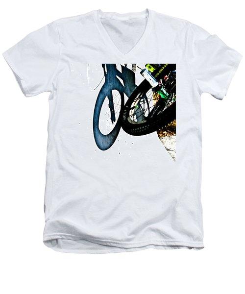 Jersey Barrier Men's V-Neck T-Shirt by Joel Loftus
