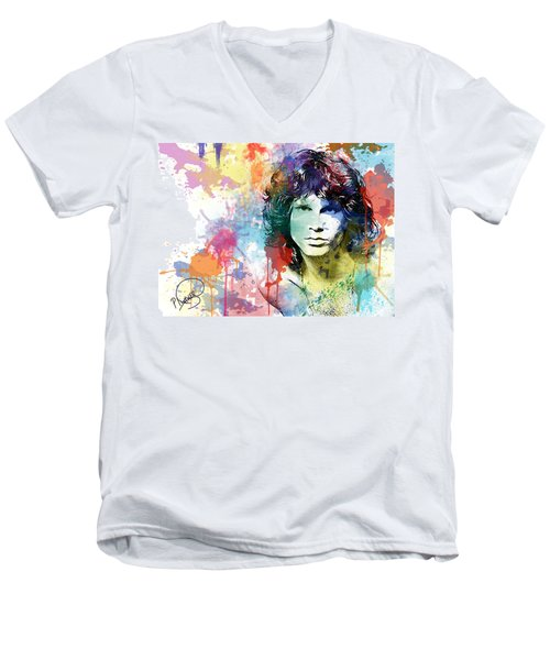 Jim Morrison Men's V-Neck T-Shirt