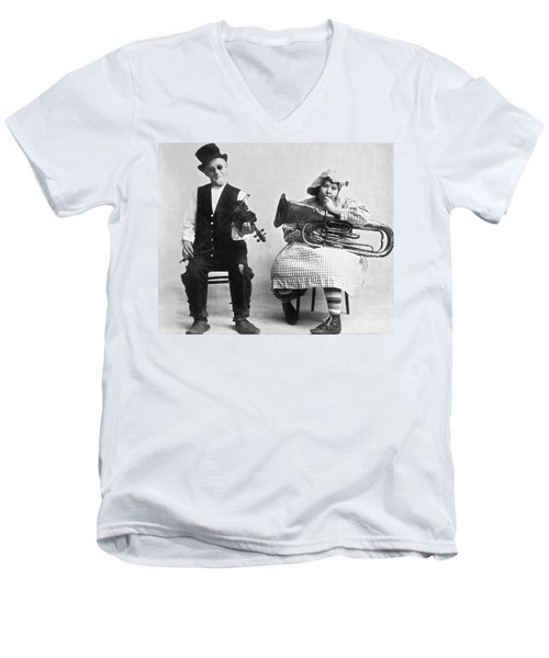 Jimmie And Blanche Creighton Men's V-Neck T-Shirt