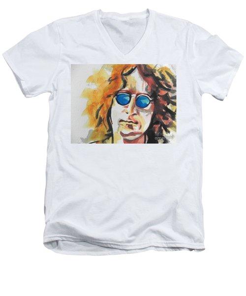 John Lennon 03 Men's V-Neck T-Shirt