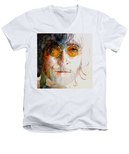 John Winston Lennon Men's V-Neck T-Shirt