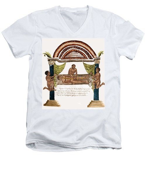 Men's V-Neck T-Shirt featuring the photograph Joint Dislocation Treatment, 1st by Science Source