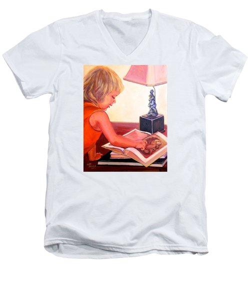 Jojo And Renoir Men's V-Neck T-Shirt by Jeanette Jarmon