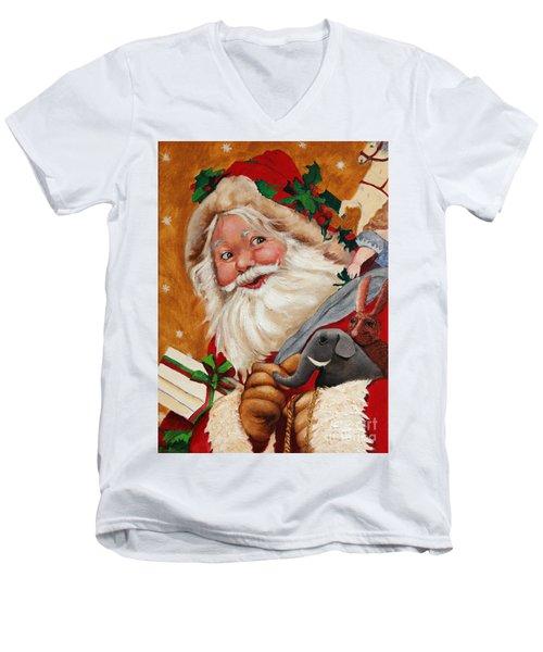 Jolly Santa Men's V-Neck T-Shirt