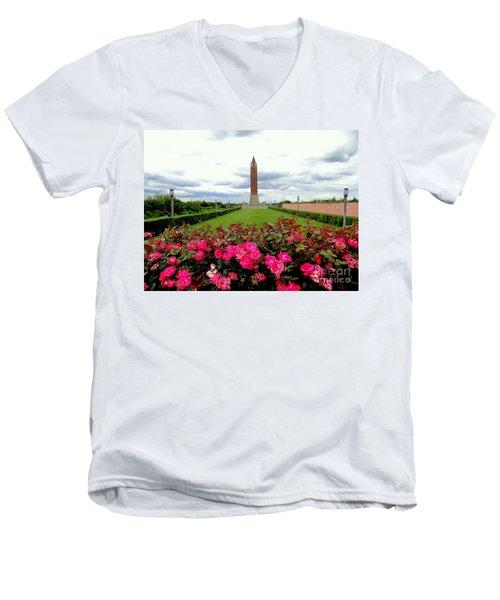 Jones Beach Water Tower Men's V-Neck T-Shirt by Ed Weidman