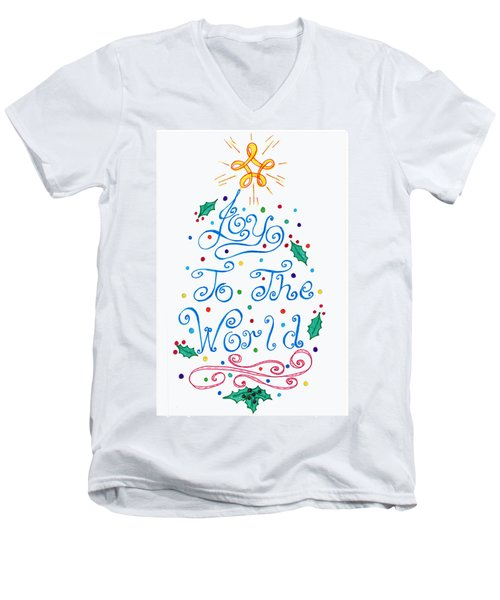Joy To The World Men's V-Neck T-Shirt