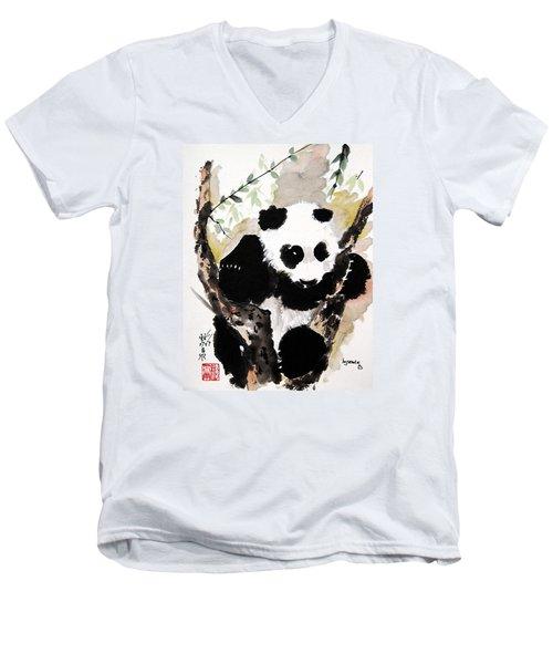 Joyful Innocence Men's V-Neck T-Shirt by Bill Searle
