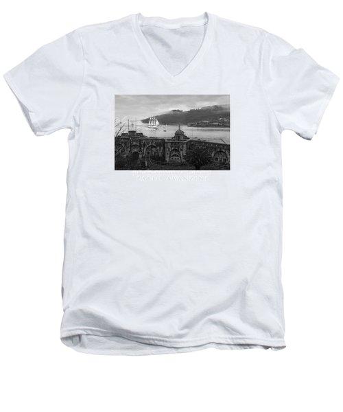 Juan Sebastian Elcano Arrival To The Port Of Ferrol Men's V-Neck T-Shirt