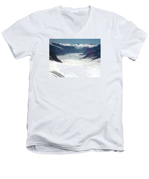 Jungfrau Glacier Men's V-Neck T-Shirt