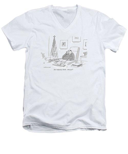 Just Impeachy Men's V-Neck T-Shirt