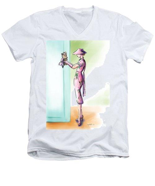 Just Like Mommy Men's V-Neck T-Shirt