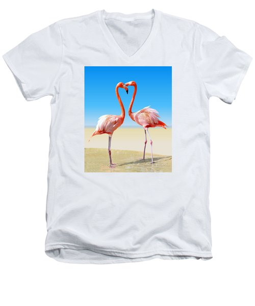 Just We Two Men's V-Neck T-Shirt by Kristin Elmquist
