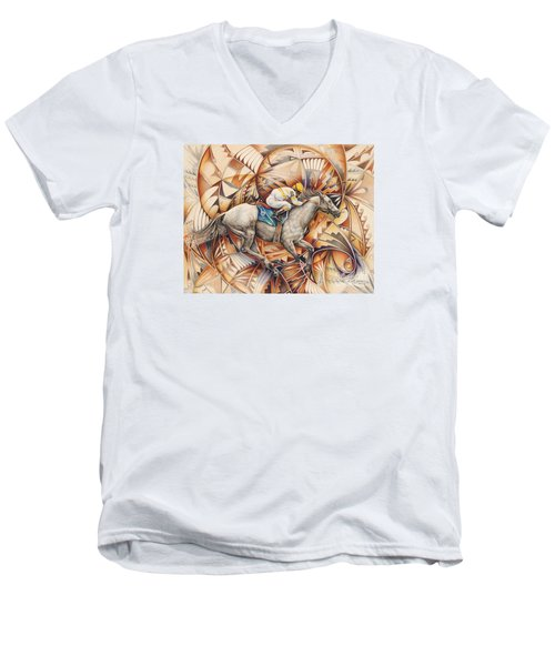 Kaleidoscope Rider Men's V-Neck T-Shirt