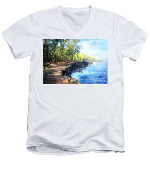 Kaloli Point Hawaii Men's V-Neck T-Shirt