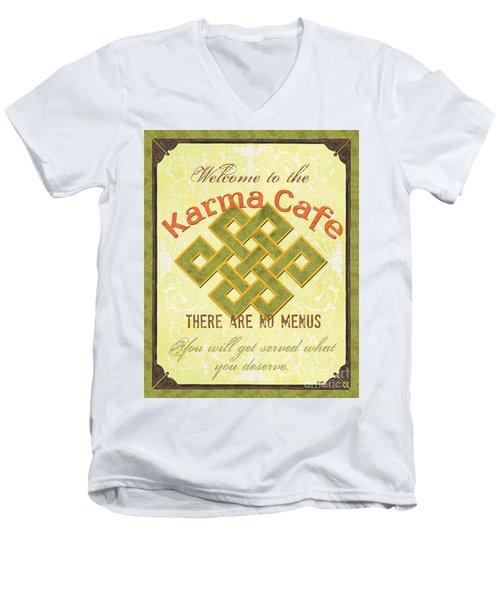Karma Cafe Men's V-Neck T-Shirt