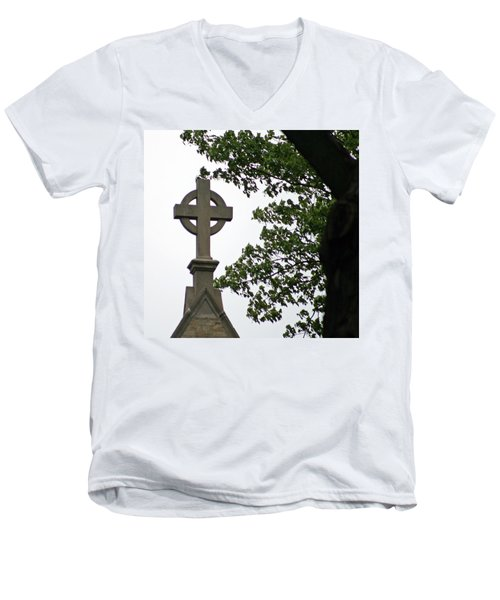 Keeping The Faith Men's V-Neck T-Shirt by Kay Novy