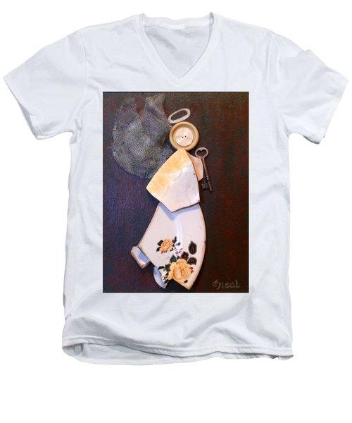 Key Angel Men's V-Neck T-Shirt