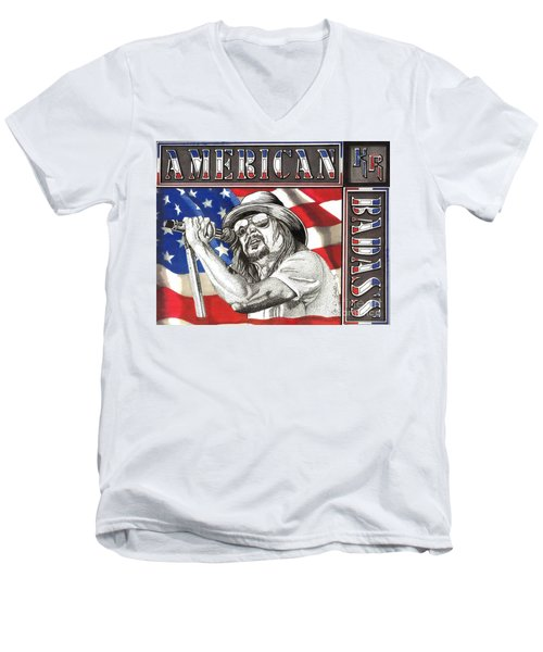 Kid Rock American Badass Men's V-Neck T-Shirt