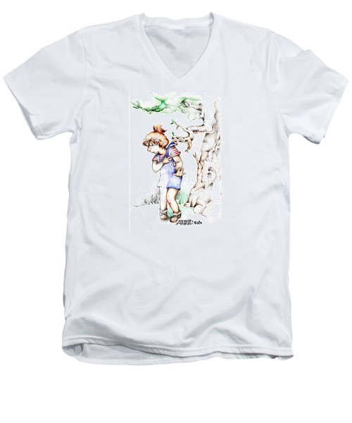 Trail Blazing Edition Kidnabbed 2 Foto Men's V-Neck T-Shirt